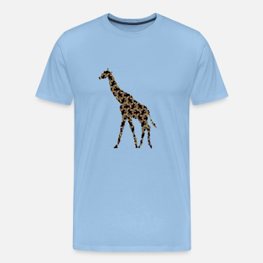 Samurai Art Giraffe design graphic gift idea art exclusive - Men's Premium T-Shirt
