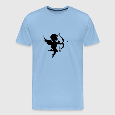 Amor bue og pil Angel Design for Lovers - Herre premium T-shirt