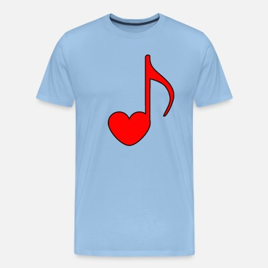 Music Note Heart Music notes with a heart music picture gift - Men's Premium T-Shirt