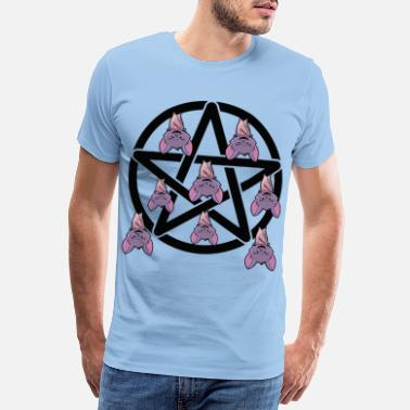 Carpathian Pentagram bat horror Halloween - Men's Premium T-Shirt