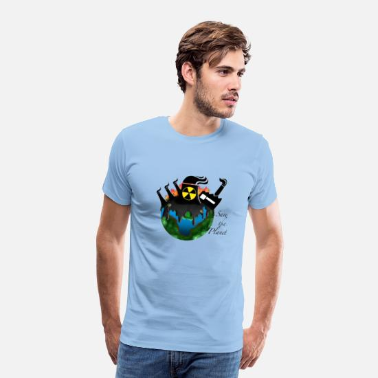 Klimawandel T-Shirts - Save the Planet — Klimawandel - Männer Premium T-Shirt Sky
