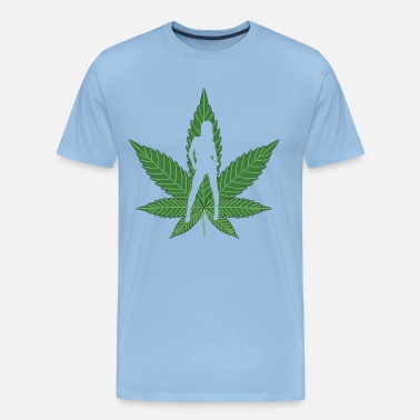 Défoncé Sexy Weed Girl - T-shirt Premium Homme