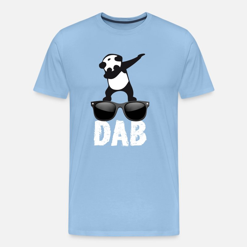 Love T-Shirts - dab panda glasses dabbing Dance Football fun cool l - Men's Premium T-Shirt sky