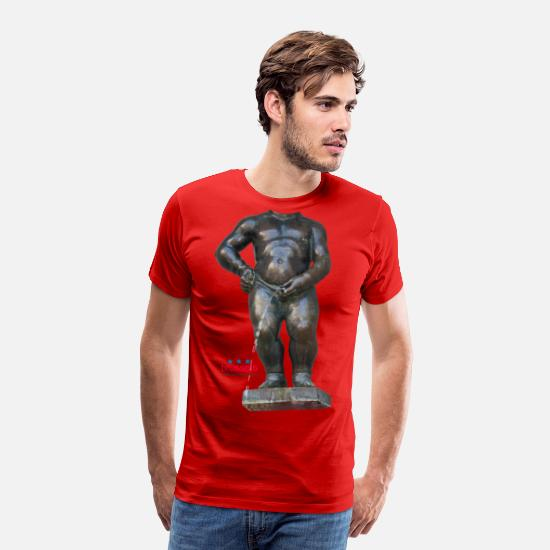 Pis T-shirts - mannekenpis Real Big ♀♂ | 撒尿小童 - T-shirt premium Homme rouge