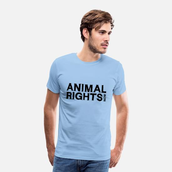 Animal Rights T-Shirts - ANIMAL RIGHTS NOW_01 - Men's Premium T-Shirt sky
