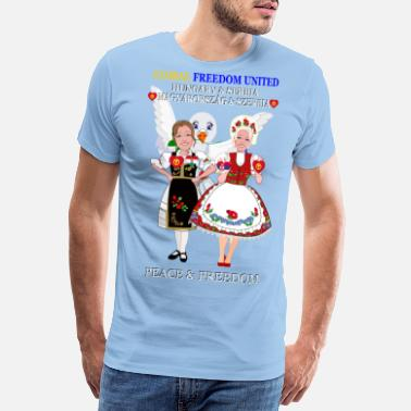 Signe De Paix GLOBAL FREEDOM UNITED SERBIE HONGRIE NEW H V1 2 - T-shirt premium Homme