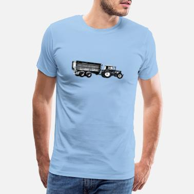 Maize Tractor trailer tractor farmer agriculture - Men's Premium T-Shirt