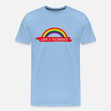 Freedom Peace Love & Tolerance Tolerance Homo Rainbow Gift - Men's Premium T-Shirt