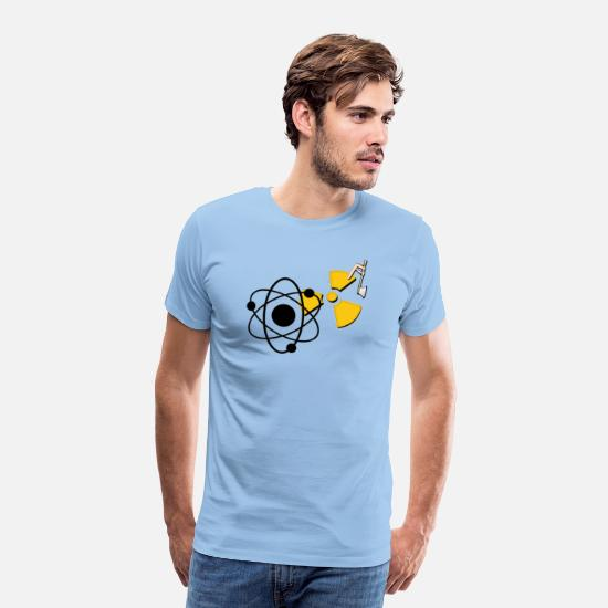 Radioactive T-Shirts - nuclear fission - Men's Premium T-Shirt sky