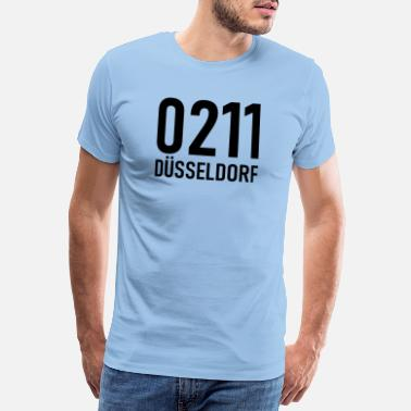 Make Phone Calls 0211 - Area code Düsseldorf - NRW - Rhine - Men's Premium T-Shirt