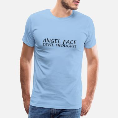 Weirdo ANGEL FACE DEVIL THOUGHTS TUMBLR SHIRT - Männer Premium T-Shirt