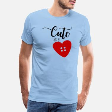 Goujon Bouton Coeur Coudre Coudre Quilting Needle Thread Gift - T-shirt premium Homme