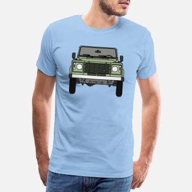 Land Defender - Front - Men's Premium T-Shirt