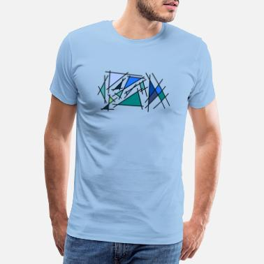 Abstract Blue corner - Men's Premium T-Shirt
