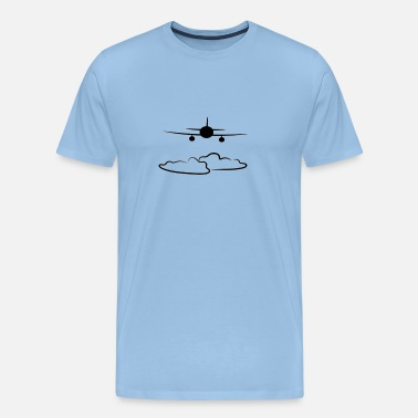 Above The Clouds Pilot airplane plane flying above the clouds - Men's Premium T-Shirt
