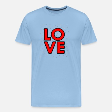 Wonderland Merry Christmas - Love - love star fir tree - Men's Premium T-Shirt
