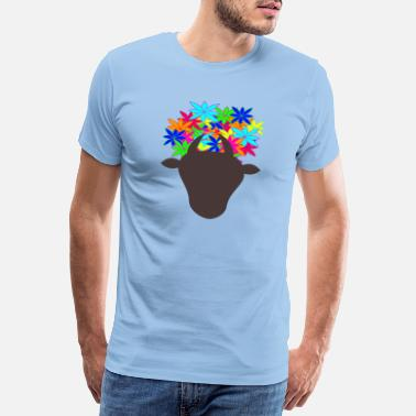 Headdress Cow with headdress - Men's Premium T-Shirt