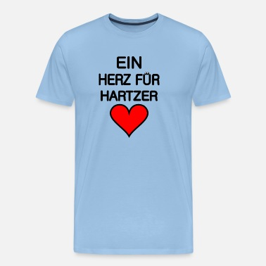 Satyr A heart for Hartzer in black. - Men's Premium T-Shirt