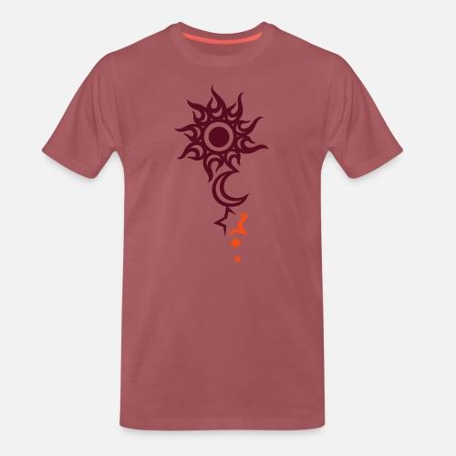 Tatouage Avec Le Soleil La Lune Et Les Etoiles T Shirt Premium