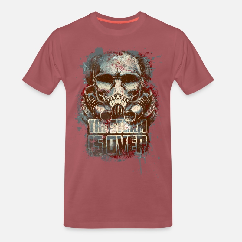 Cool T-Shirts - the storm is over - Men's Premium T-Shirt washed burgundy