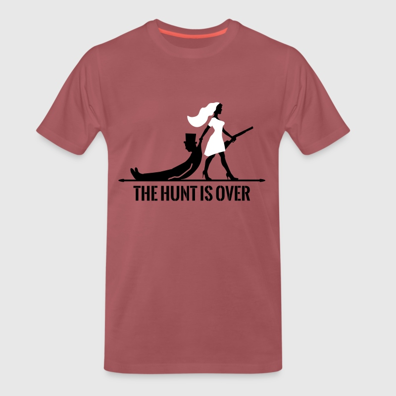 The hunt is over JGA Junggesellenabschied Party - Men's Premium T-Shirt