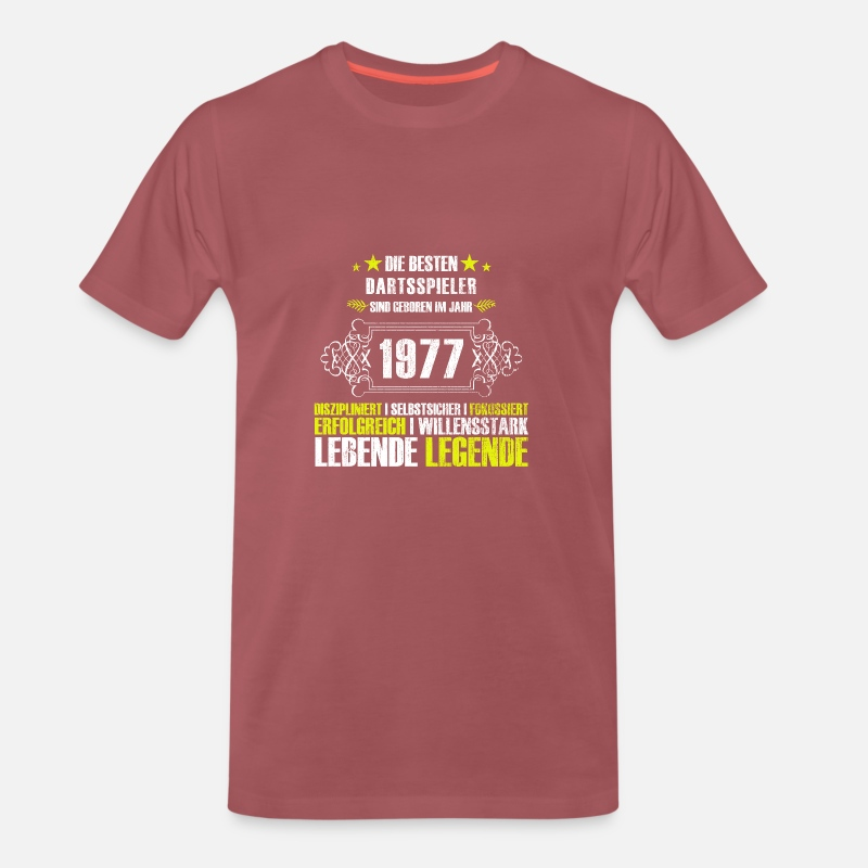 Gift Idea T-Shirts - Gift for the 40th birthday for darts players - Men's Premium T-Shirt washed burgundy