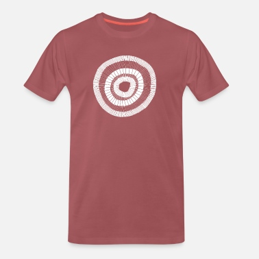 Circle Designs Painted circle design white 001 - Men's Premium T-Shirt