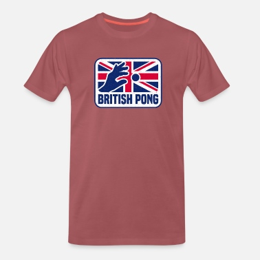 BRITISH BEER PONG UNION JACK - Men's Premium T-Shirt