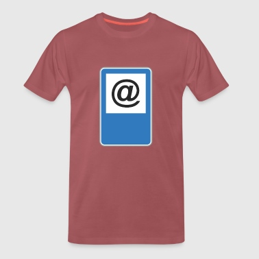 Road sign at - Men's Premium T-Shirt