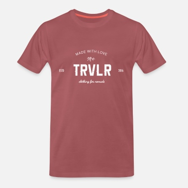 TRVLR LOGO SHIRT MEN RED  - Männer Premium T-Shirt