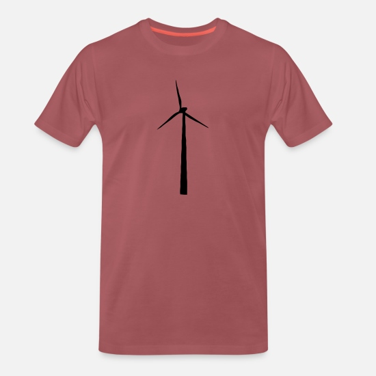 Erneuerbar T-Shirts - windrad - Männer Premium T-Shirt washed Burgundy
