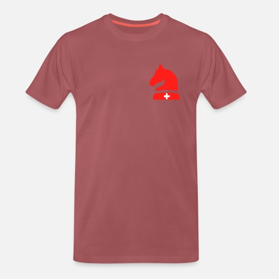 Collection T-Shirts - Swiss Spirit Collection - Men's Premium T-Shirt washed burgundy