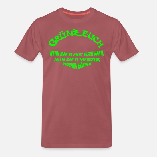 Essen T-Shirts - Gruenzeuch - Männer Premium T-Shirt washed Burgundy