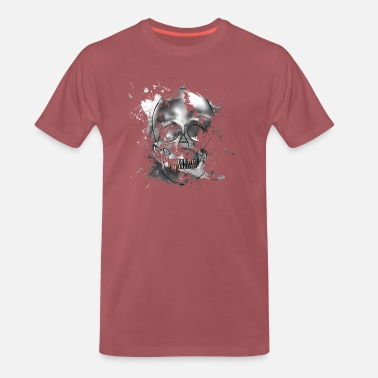 Gold Skull Skull as double exposure - Men's Premium T-Shirt