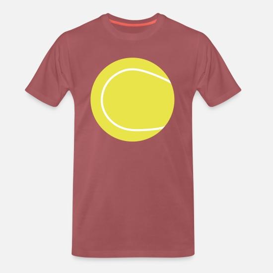 Tennis ball Premium T shirt herr | Spreadshirt