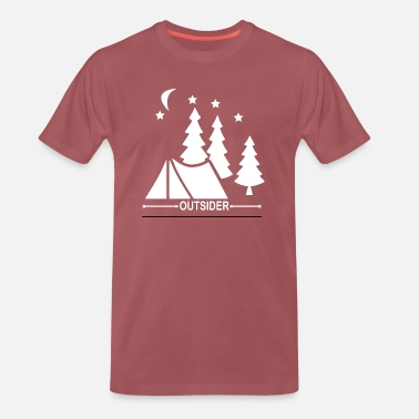 Scout Camping Mountain Adventure Outside Climbing - Men's Premium T-Shirt