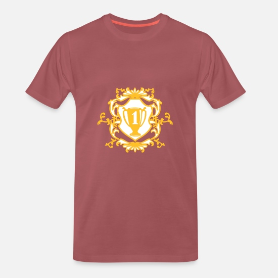 Mummy T-Shirts - number one - Men's Premium T-Shirt washed burgundy