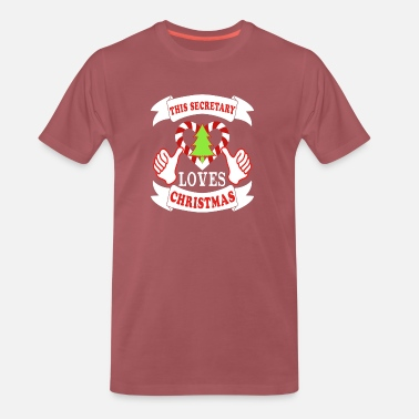 Mistletoe This Secretary This loves Christmas Xmas Holidays - Men's Premium T-Shirt