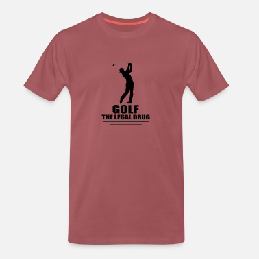 Putter Sports de golf - T-shirt premium Homme