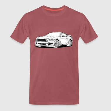 Cool Car White - Men's Premium T-Shirt