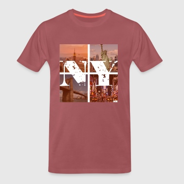 NEW YORK RED - Premium T-skjorte for menn