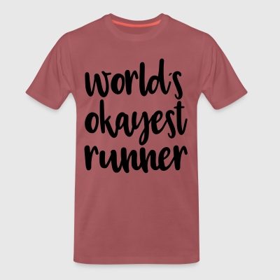 World's okayest runner - Men's Premium T-Shirt