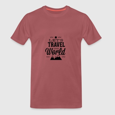 let s travel the world - Men's Premium T-Shirt