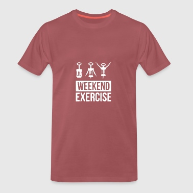 Weekend övningar - Premium-T-shirt herr