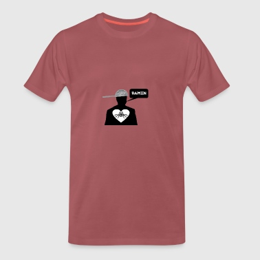 Ramen Pastafarian in heart - Men's Premium T-Shirt