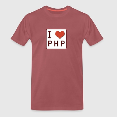 I LOVE PHP - Premium T-skjorte for menn