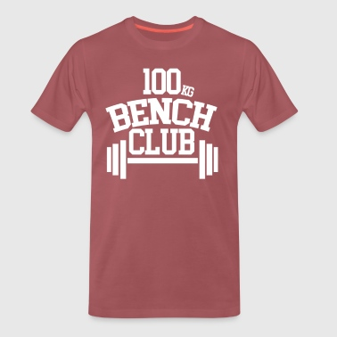 100 KG BENCH CLUB - Herre premium T-shirt