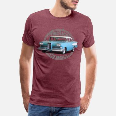 V8 American Power Vintage Shield 1 - Mannen premium T-shirt