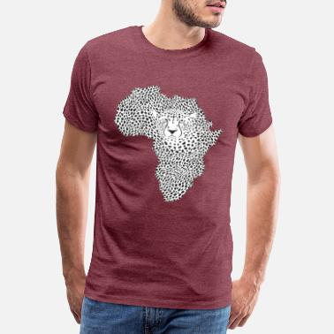 Symbol Africa in cheetah camouflage - Men's Premium T-Shirt