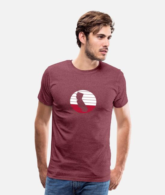 Alcatraz Federal Prison T-Shirts - California - Men's Premium T-Shirt heather burgundy